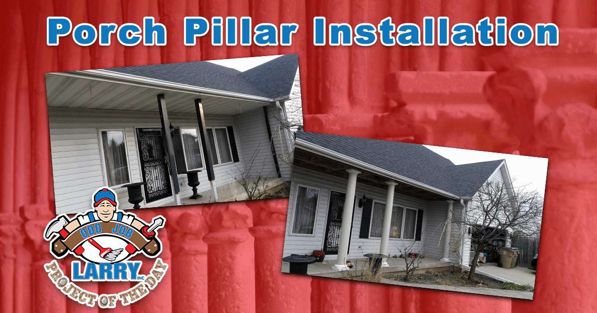 Porch Pillar Installation