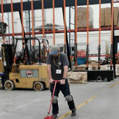 warehouse, safety tape, safety, caution, tape, forklift