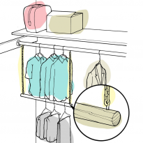 Make a trapeze hanger to save space in your closet!